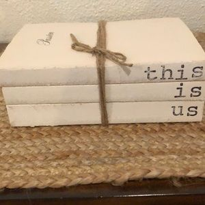 Other - Farmhouse style hand stamped books.